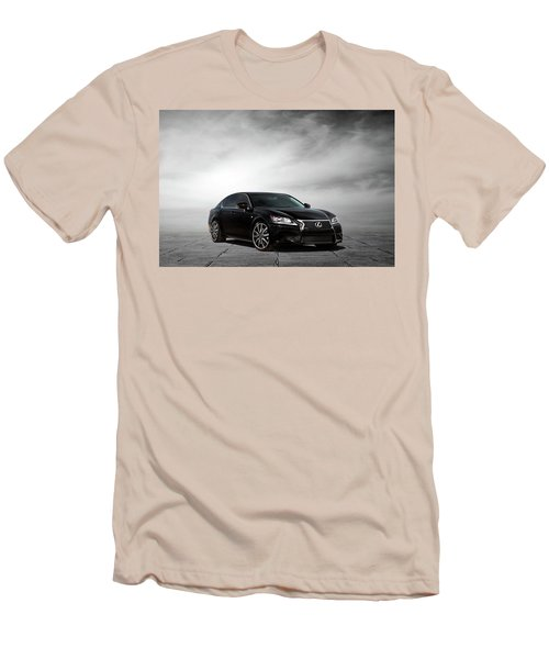 Men's T-Shirt (Slim Fit) featuring the digital art Lexus Gs350 F Sport by Peter Chilelli