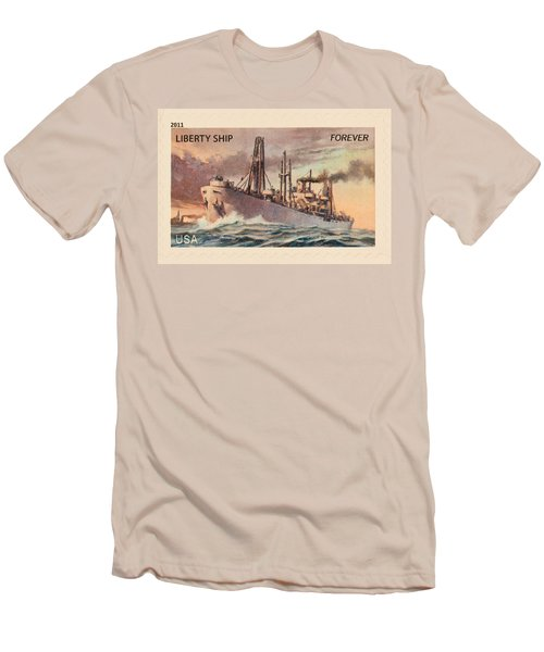 Liberty Ship Stamp Men's T-Shirt (Athletic Fit)
