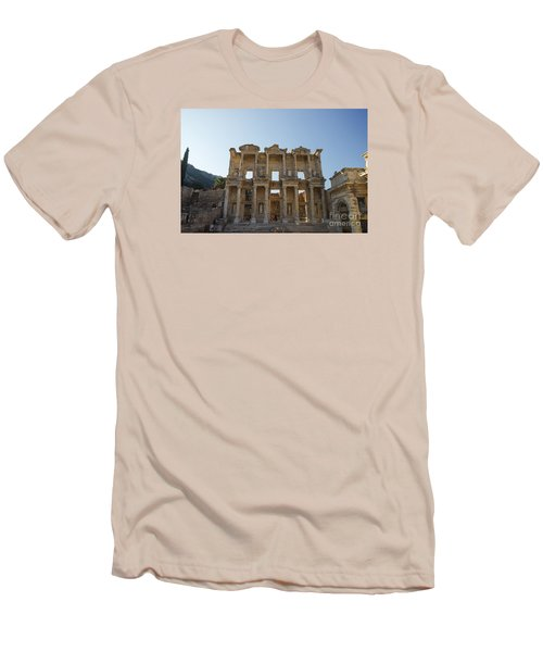 Men's T-Shirt (Slim Fit) featuring the photograph Library Of Ephesus Or Celsus by Yuri Santin