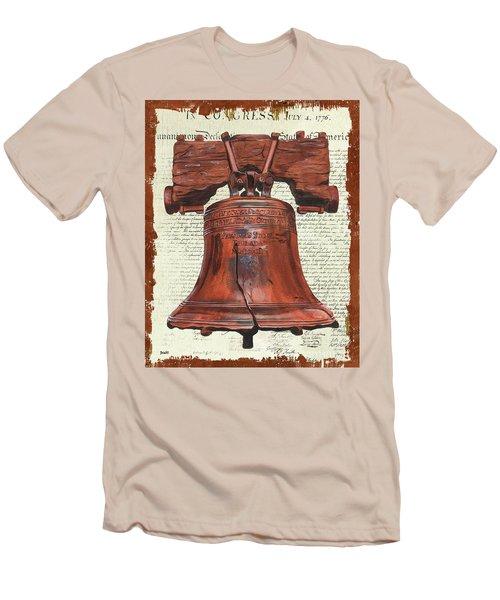 Life And Liberty Men's T-Shirt (Slim Fit) by Debbie DeWitt