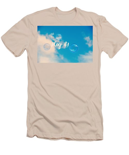 Men's T-Shirt (Slim Fit) featuring the photograph Life Is A Game by Robin Dickinson