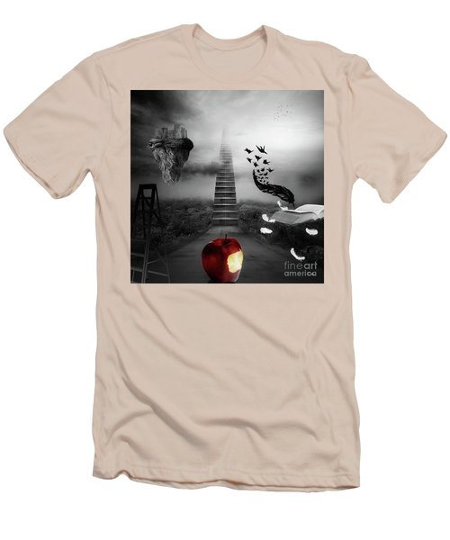 Men's T-Shirt (Slim Fit) featuring the digital art Life Is A Stage by Mo T