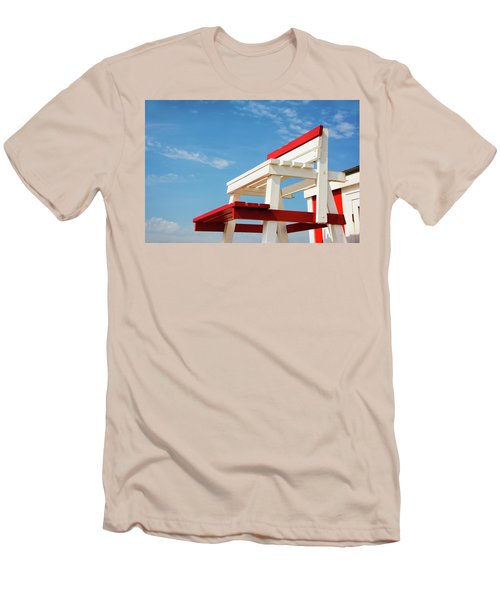 Lifeguard Station Men's T-Shirt (Slim Fit) by Marion McCristall