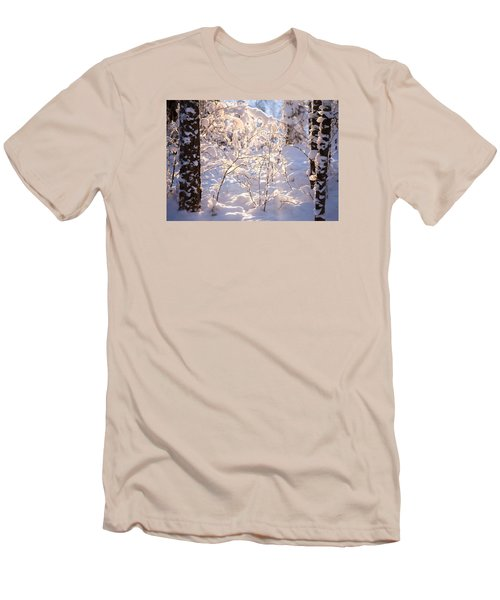 Men's T-Shirt (Slim Fit) featuring the photograph Light Of Winter by Rose-Maries Pictures