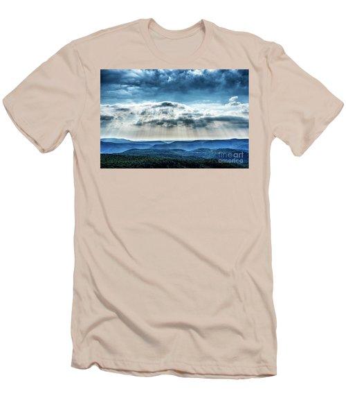 Men's T-Shirt (Slim Fit) featuring the photograph Light Rains Down by Thomas R Fletcher