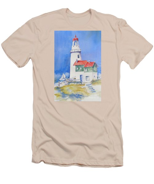 Lighthouse Men's T-Shirt (Slim Fit) by Mary Haley-Rocks