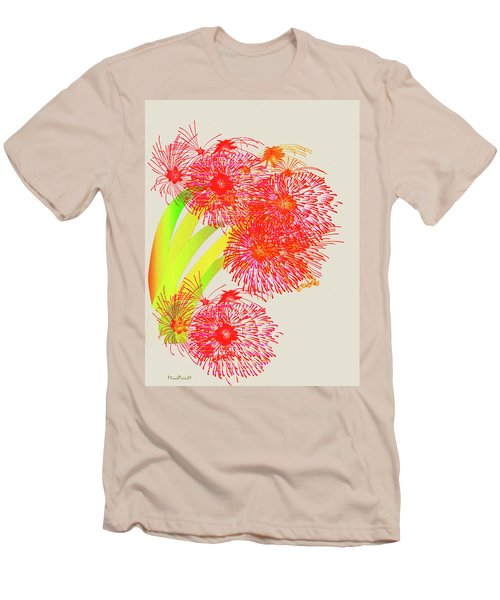 Men's T-Shirt (Slim Fit) featuring the digital art Lilly Pilly by Asok Mukhopadhyay