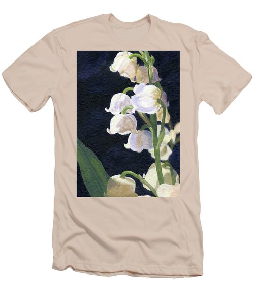 Men's T-Shirt (Athletic Fit) featuring the painting Lily Of The Valley by Lynne Reichhart