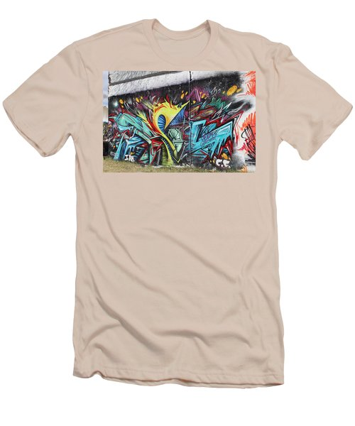 Men's T-Shirt (Slim Fit) featuring the painting Lincoln Street by Sheila Mcdonald