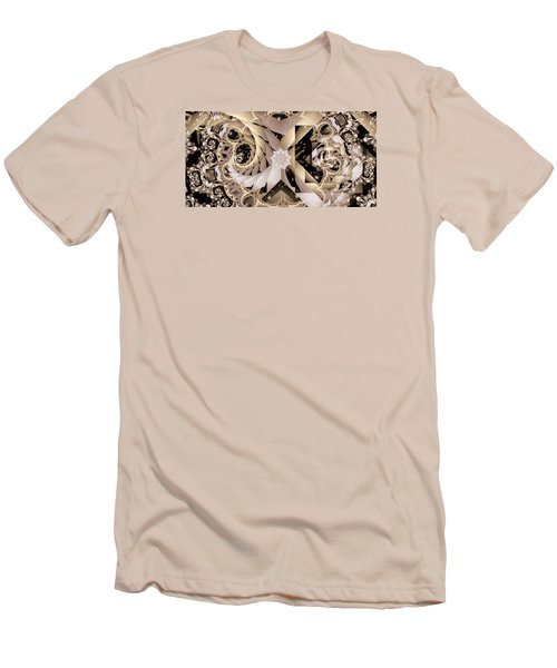 Linen And Silk Men's T-Shirt (Slim Fit) by Ron Bissett