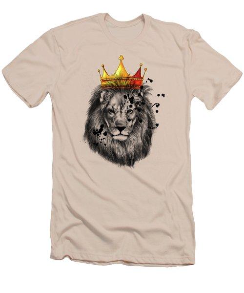 Lion King  Men's T-Shirt (Slim Fit) by Mark Ashkenazi