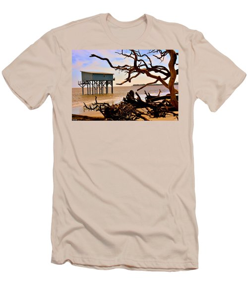 Little Blue Hunting Island State Park Beaufort Sc Men's T-Shirt (Athletic Fit)