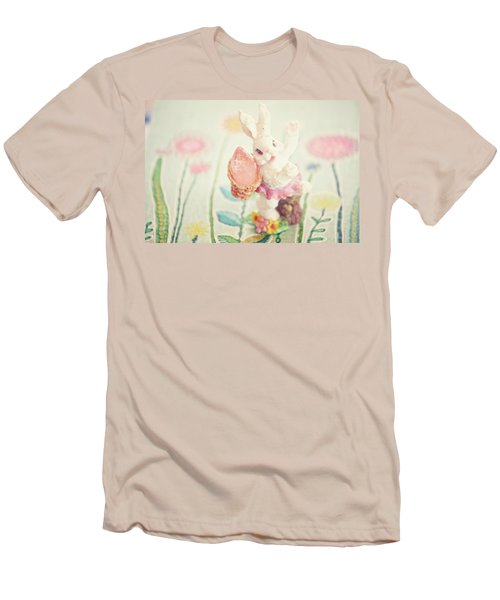 Little Bunny In The Garden Men's T-Shirt (Athletic Fit)