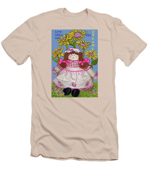 Little Girls Have Big Dreams Men's T-Shirt (Slim Fit) by Suzanne Theis