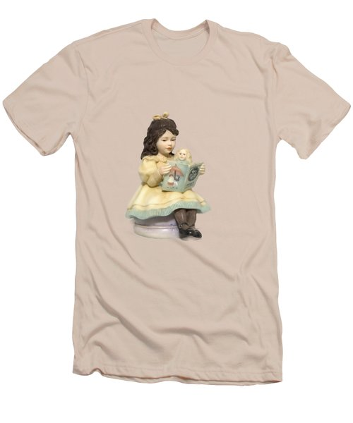 Little Miss Muffet Cutout Men's T-Shirt (Slim Fit) by Linda Phelps