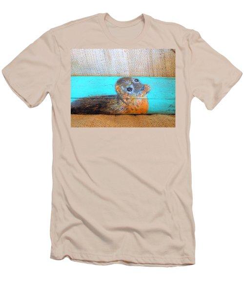 Little Seal Men's T-Shirt (Slim Fit) by Ann Michelle Swadener