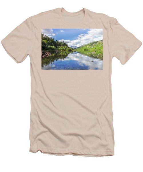 Llyn Mymbyr And Snowdon Men's T-Shirt (Slim Fit) by Ian Mitchell