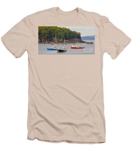 Lobster Boats In Bar Harbor Men's T-Shirt (Athletic Fit)