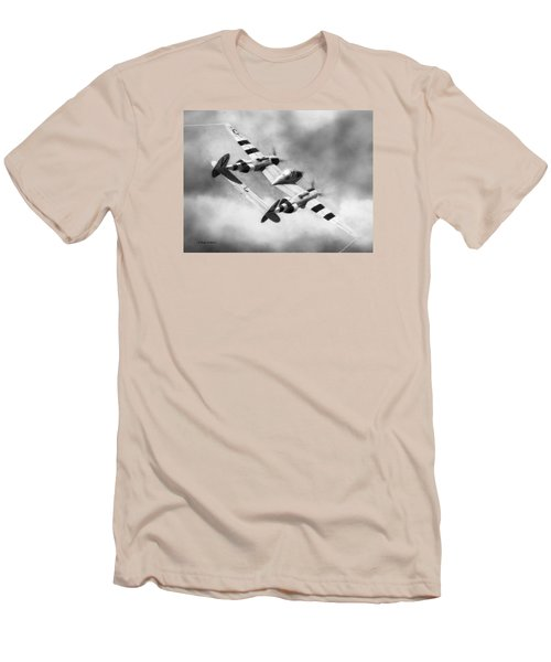 Lockheed P-38l Lightning Drawing Men's T-Shirt (Athletic Fit)