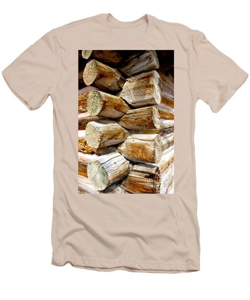 Log Cabin Corner Men's T-Shirt (Athletic Fit)