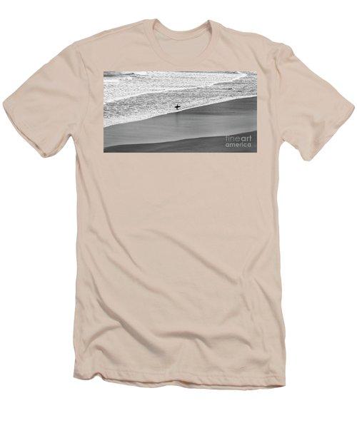 Men's T-Shirt (Slim Fit) featuring the photograph Lone Surfer by Nicholas Burningham