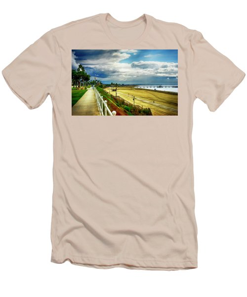 Men's T-Shirt (Slim Fit) featuring the photograph Long Beach Bluff Park by Joseph Hollingsworth