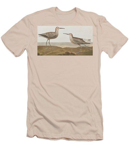 Long-legged Sandpiper Men's T-Shirt (Slim Fit) by John James Audubon