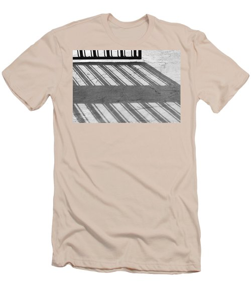 Long Shadow Of Metal Gate Men's T-Shirt (Slim Fit) by Prakash Ghai