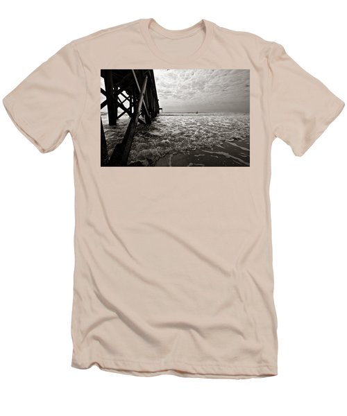 Long To Surf Men's T-Shirt (Slim Fit) by David Sutton