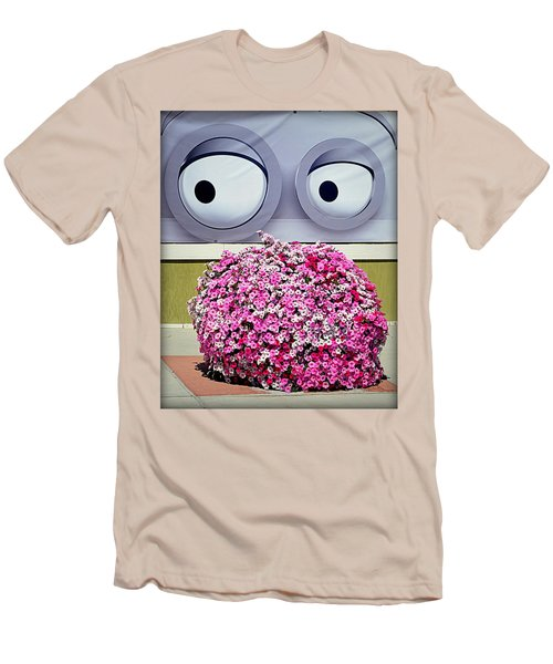 Men's T-Shirt (Slim Fit) featuring the photograph Look At Those Flowers by AJ Schibig