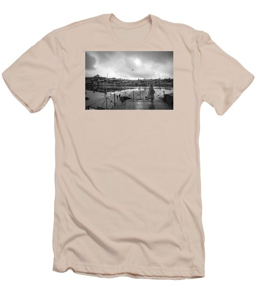 Looking And Passing By Men's T-Shirt (Athletic Fit)
