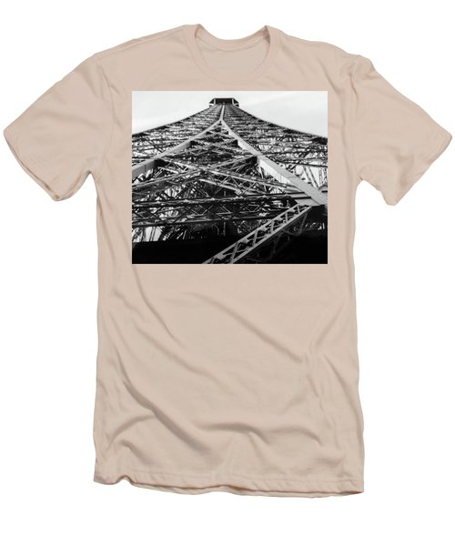 Looking Up From The Eiffel Tower Men's T-Shirt (Athletic Fit)