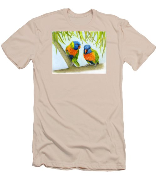 Lorikeet Pair Men's T-Shirt (Athletic Fit)