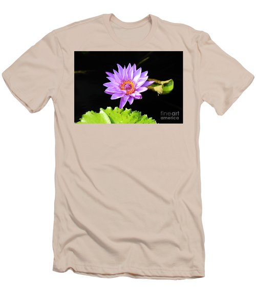 Lotus Splendor Men's T-Shirt (Slim Fit) by Deborah Crew-Johnson