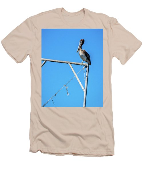 Louisiana's State Bird Men's T-Shirt (Slim Fit) by Andy Crawford