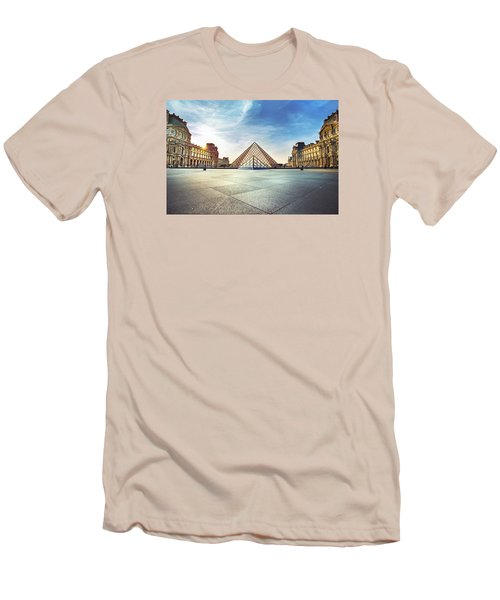 Louvre Museum Men's T-Shirt (Slim Fit) by Ivan Vukelic
