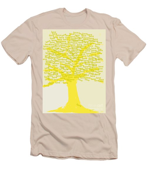 Men's T-Shirt (Slim Fit) featuring the painting Love Inspiration Tree by Go Van Kampen