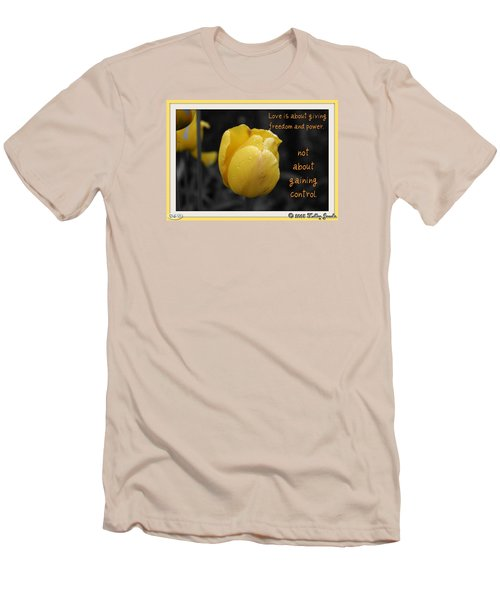 Men's T-Shirt (Slim Fit) featuring the digital art Love Is About Giving by Holley Jacobs