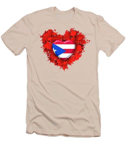 Love Puerto Rico Men's T-Shirt (Athletic Fit)
