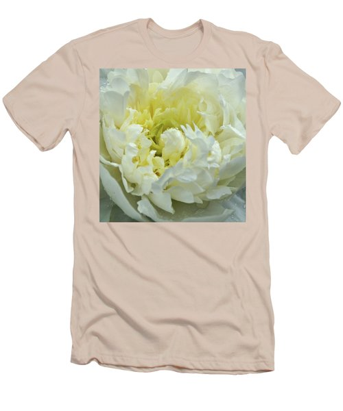 Men's T-Shirt (Slim Fit) featuring the photograph Lovely Peony by Sandy Keeton