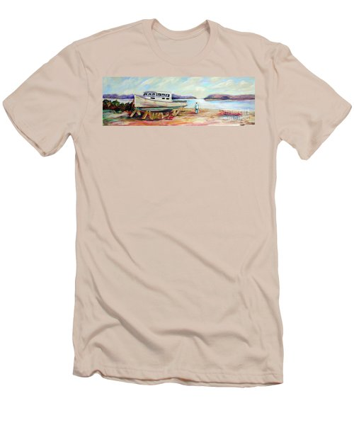 Men's T-Shirt (Slim Fit) featuring the painting Lovie by Patricia Piffath