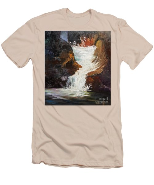 Lower Chasm Waterfall Men's T-Shirt (Slim Fit)