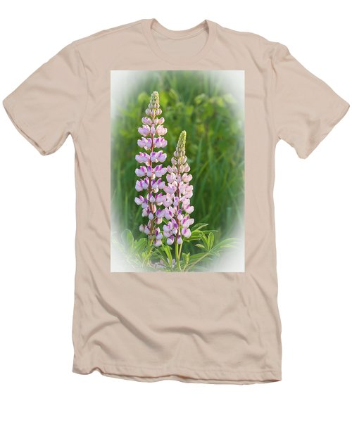 Men's T-Shirt (Slim Fit) featuring the photograph Lupine Pair by Paul Miller