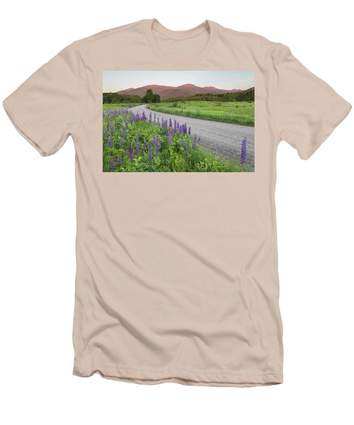 Lupine Sunset Road Men's T-Shirt (Athletic Fit)