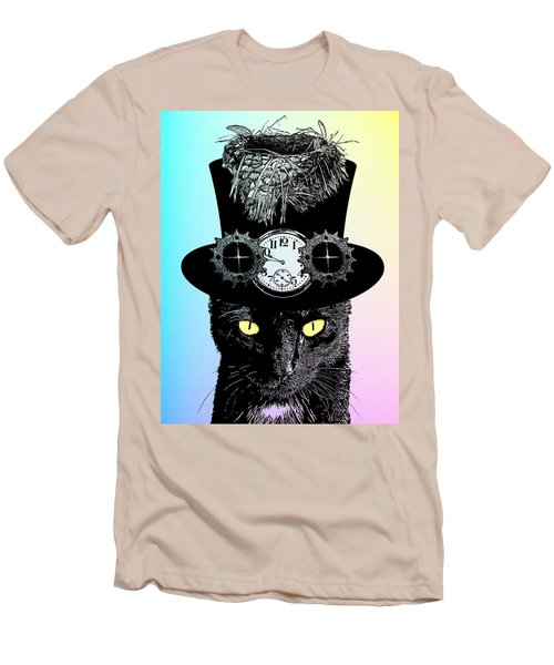Mad Hatter Cat Men's T-Shirt (Athletic Fit)