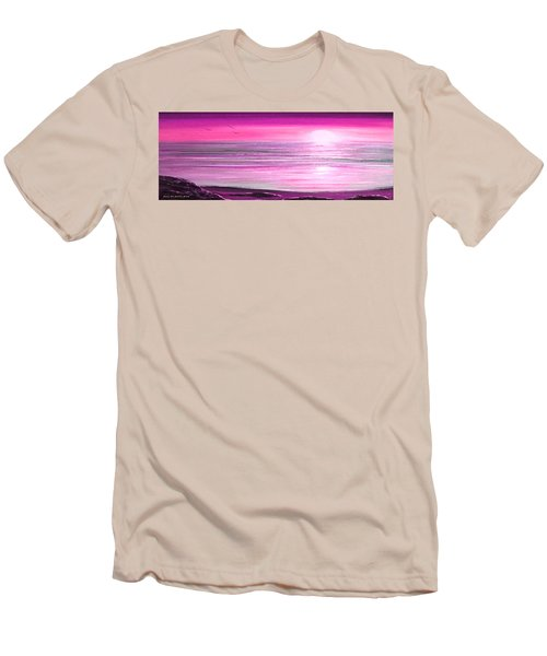 Magenta Panoramic Sunset Men's T-Shirt (Athletic Fit)
