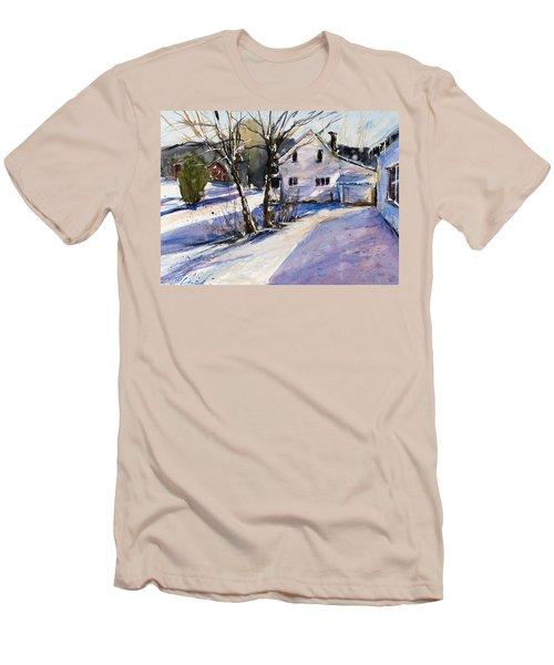 Magenta Shadows Men's T-Shirt (Slim Fit) by Judith Levins
