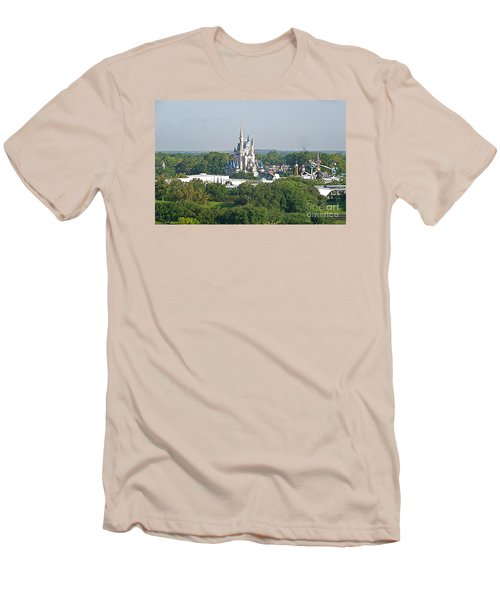 Men's T-Shirt (Slim Fit) featuring the photograph Magic Kingdom by Carol  Bradley