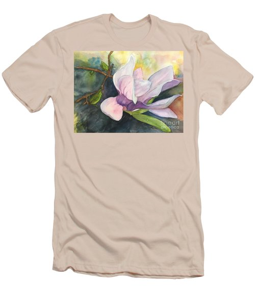 Magnificent Magnolia Men's T-Shirt (Slim Fit) by Lucia Grilletto