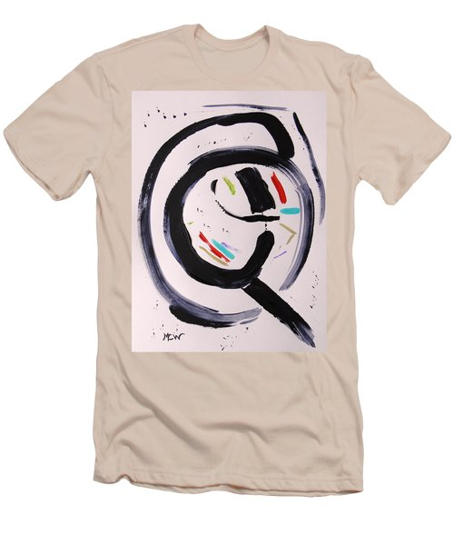 Men's T-Shirt (Slim Fit) featuring the painting Magnifying by Mary Carol Williams